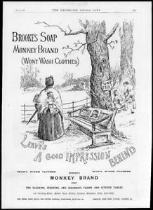 1897-Antique-ADVERTISING-Print-BROOKES-Monkey-Brand-Good-Impression-65