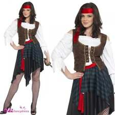 Adult Pirate Captain Buccaneer Costume Ladies Shipmate Fancy Dress Outfit New