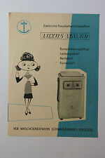 originale Werbung Bedienungsanleitung DDR Waschmaschine Luxux WM 60 (185)