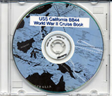 USS California BB 44 WWII CRUISE BOOK on Photo CD RARE