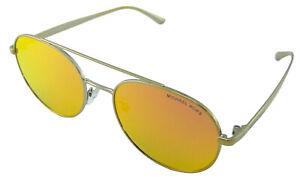 Michael-Kors-Sunglasses-Lon-Gold-Tone-Mirror-Lens-Womens-Ladies