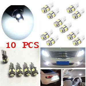 10x-T10-Led-Canbus-Error-Free-5-SMD-Car-Side-Wedge-light-Bulb-White-168-194-W5W