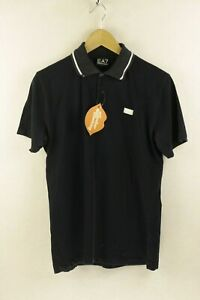 EA7-Mens-ARMANI-Polo-Shirt-ITALIAN-SPORT-Short-Sleeve-SLIM-Medium-FADED-P56