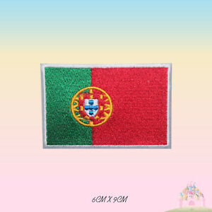 Portugal-National-Flag-Embroidered-Iron-On-Patch-Sew-On-Badge-Applique