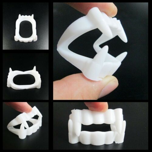 15Pcs Dress Vampire Zombie Fangs Teeth Party Costume Halloween Fascinating Vogue