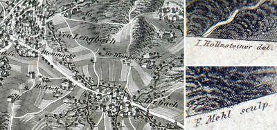 Alte Landkarte 19 Jhd. Alt & Neu Lengbach Zahlreich In Vielfalt