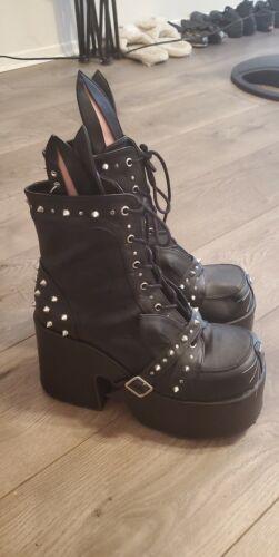 "7"" Gothic Black Platform Demonia Boots Bunny Costu"