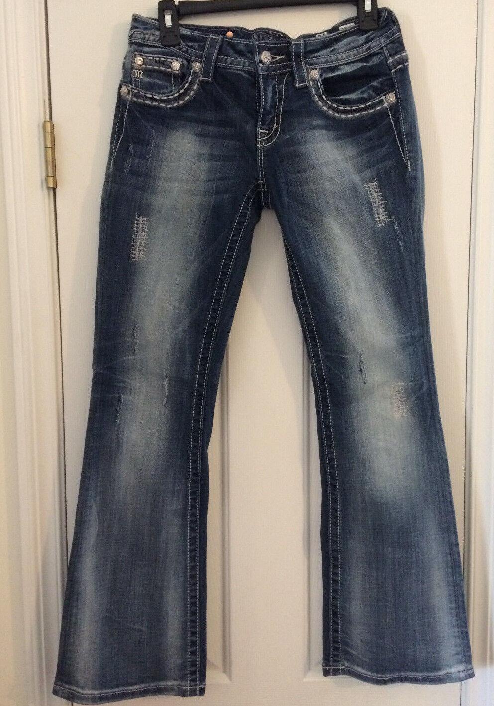 Miss Me Jeans Womens Size 28 X 31 color VTG 17 Style JE5641BR Boot Cut EXCELLENT