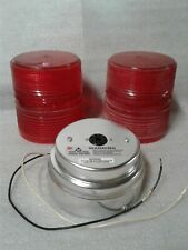 Federal Signal Star Fire Model 131dst Strobe Light Red No Bulb No Gaskets