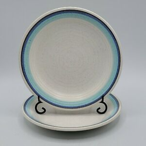 Set-of-2-Vintage-Franciscan-Pottery-Malibu-Bread-Dessert-6-5-034-Plates-NICE