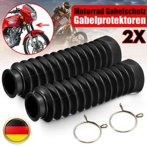 Gabelfaltenbälge Faltenbalg Gabel Gummibalg Gabelschützer Satz Motorrad Schutz