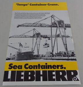 "Prospectus/Brochure Liebherr "" Tango "" Container Crane From 04/1977"