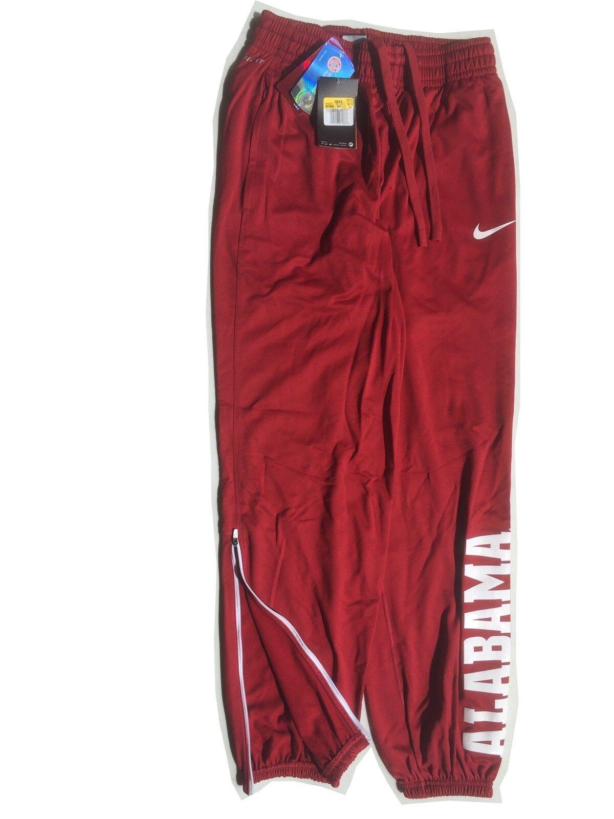 NIKE DRI-FIT Team Issue Basketball Sports Pants Alabama Crimson Tide SZ Small