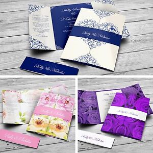Gatefold-Personalised-Wedding-amp-Evening-Invitations-with-Envelopes-amp-Belly-Band