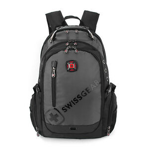 Fashion Swiss Wateproof Laptop Backpack Computer Notebook School Travel grey Bag