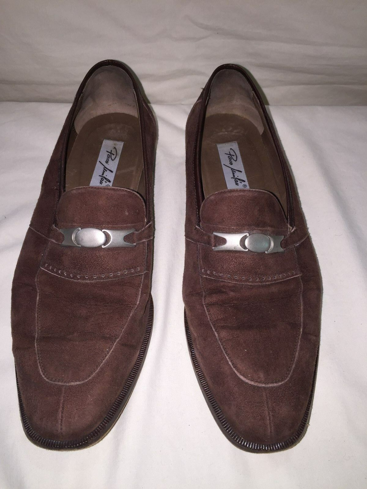 Paco Lui Lau Suede Slip on shoes Loafers Made in Spain by Cortina Size 10.5