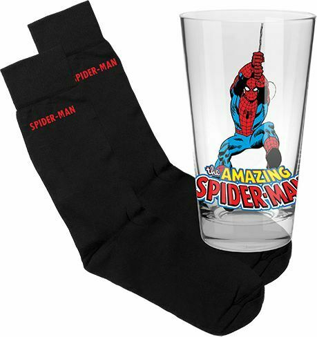 Spiderman Glass and Socks Pack