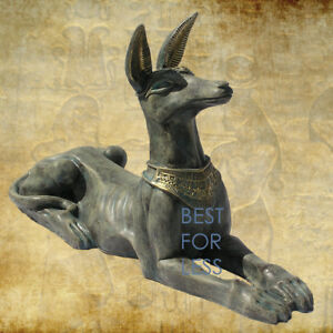 Agyptischer-Agypten-Schakal-Hund-Pharao-Ramses-Sarkophag-Figur-Statue-Dekoration