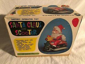 Masudaya Moderne Jouets Japon Santa Claus Sur Scooter Rare