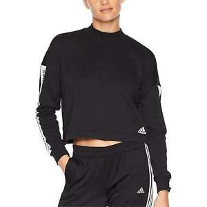 Details about NEW Adidas Women's Athletic Workout Sport ID Long Sleeve Crew Neck Sweatshirt