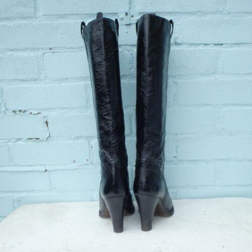 Womens Pull 5 Leather 5 On Eu Bromley 37 Patent Russell 4 Boots Black amp; Uk R7pSxq4