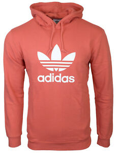 Details zu Adidas Originals Adicolor Trace Scarlet Mens Trefoil Hoody CX1899