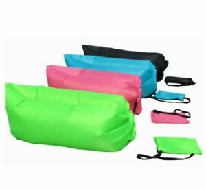Outdoor Air Bed Canapé lit gonflable chaise longue Camping Sac de plage