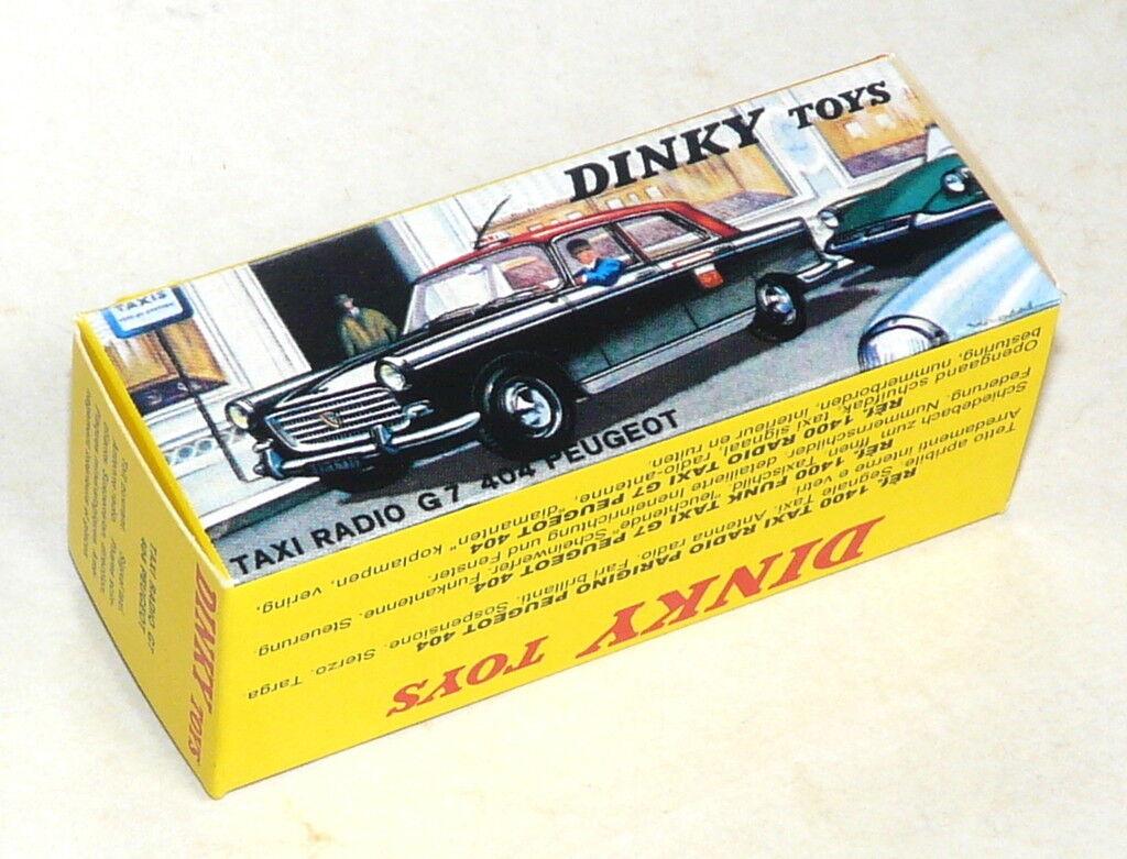 Boite neuve pour Dinky Toys Peugeot 404 Taxi G7 N° 1400