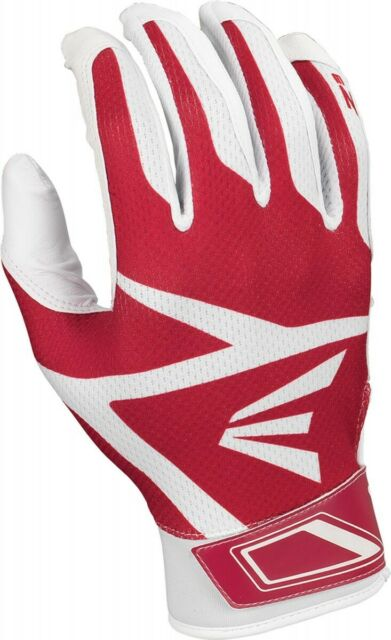 NWT EASTON Rampage Youth Batting Gloves Large L Black Leather Palm Baseball NEW