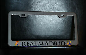 Quot Real Madrid Quot License Plate Frame Custom Made Of Chrome