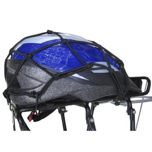 Motorcycle Helmet Net Cargo Net Bungee Net Hooks Elasticated Stretchable New