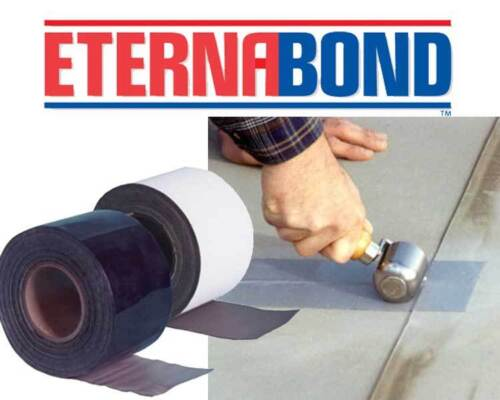 "Eternabond RV Mobile Home Roof /& Leak Repair Tape 4/"" x 50/' Roll White Authentic"
