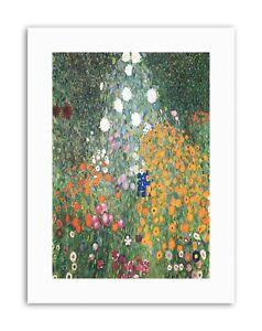 GUSTAV-KLIMT-FLOWER-GARDEN-1907-Poster-Painting-Old-Master-Canvas-art-Prints