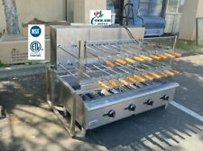New 48 Bbq Brazilian Grill Oven Rotisserie Turning Machine Gas Propane Lp Nsf