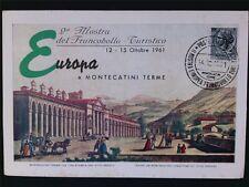 Italia MK 1961 ITALY EUROPA maximum carta carte MAXIMUM CARD MC cm c6592