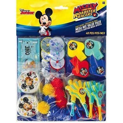 48 PC Disney Mickey Mouse Mega Value Favor Pack Birthday Party Piñata Bag Filler