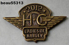 LADIES OF HARLEY OWNERS GROUP HOG H.O.G. LOH 2012 JACKET VEST HAT PIN