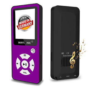 BERTRONIC-MP3-Player-Made-in-Germany-BC01-Lila-100h-mit-Schrittzaehler-FM