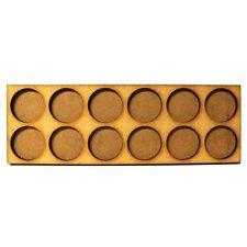 Movement Trays in MDF (17,8cm x 6cm) 12 SLOT (circular 25mm diam.)