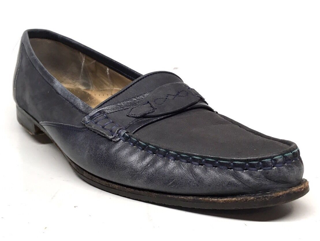 Sz. 8.5 M  BALLY bluee Loafers Made In ITALY