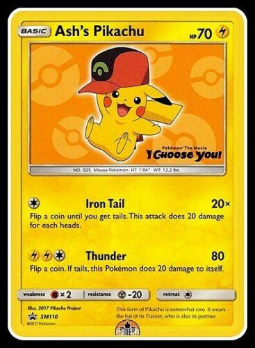 Ash/'s Pikachu SM110 Sun /& Moon Promo Near Mint **GamerzSphere**
