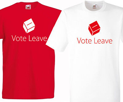 I VOTED LEAVE T-SHIRT AEXIT EUROPE REFERENDUMEURED OR WHITE BREXIT