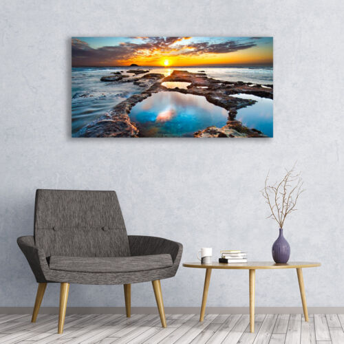 Wandbilder Glasbilder Druck auf Glas 120x60 Meer Sonne Landschaft
