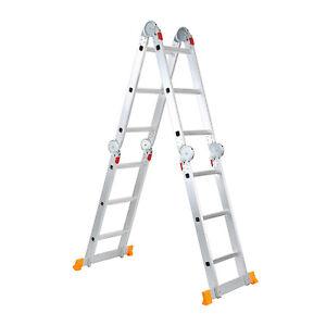 Aluminum-Ladder-Foldable-12-3FT-Step-Scaffold-Extendable-Platform-Multi-Purpose