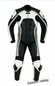 Men-039-s-Classic-Motorcycle-CE-Approved-Racing-Biker-100-Cowhide-Leather-Suit