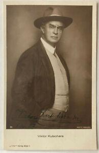 Viktor-Kutschera-Film-Theater-original-Autogramm-Groesse-14-x-9-cm