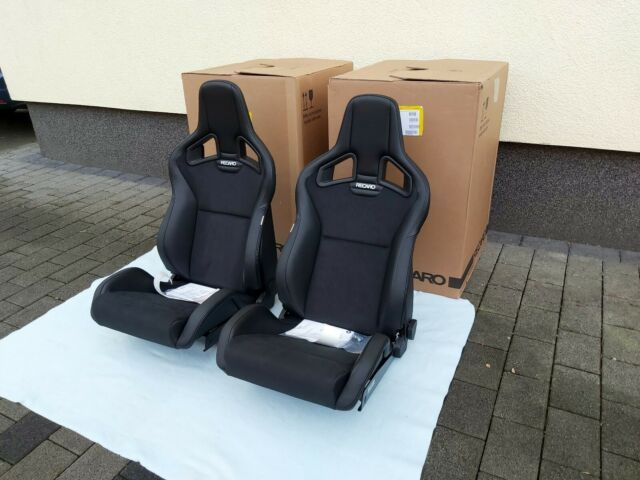 Recaro Sportster Cs Seats Pair Vinyl Leather Dinamica Heated Brand New Ebay