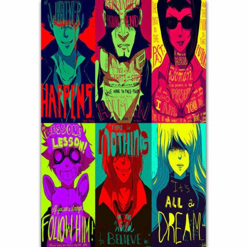 Cowboy Bebop Japanese Anime Classic Print Spike Fabric Decor Poster B203