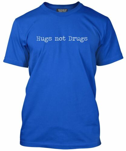 Hugs Not Drugs T shirt Funny Hipster All Colours Tee Mens T-Shirt
