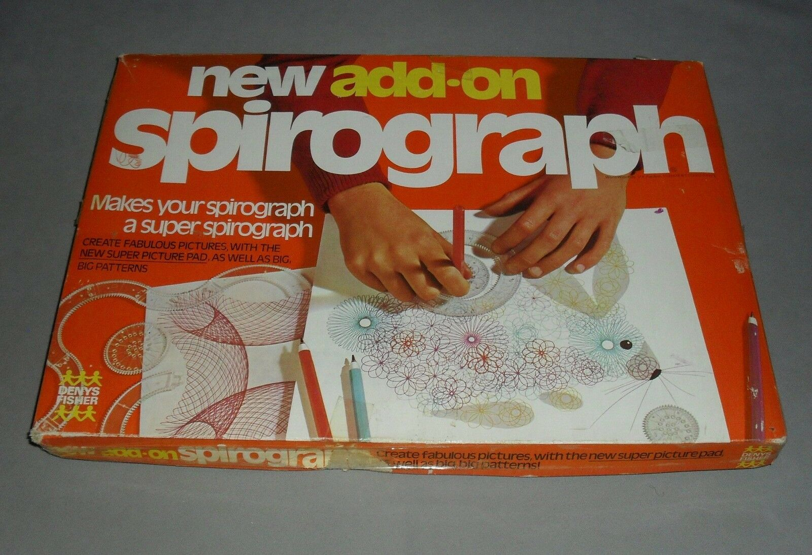 New Add On Spirograph Fun Drawing Board Game Denys Fisher 1973 COMPLETE VGC RARE